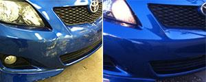 before and after bumper repair